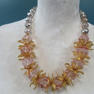 Lenora Dame Floral Statement Necklace